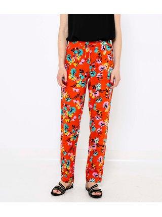 Oranžové květované kalhoty CAMAIEU