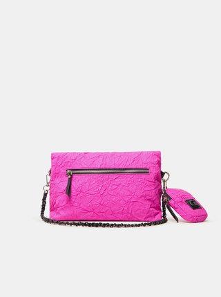 Růžová dámská crossbody kabelka Desigual Crush Venecia