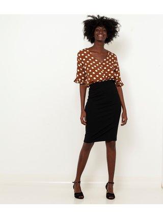 Černá pouzdrová sukně CAMAIEU