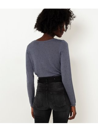 Modré vzorované tričko CAMAIEU