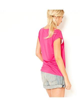 Ružové tričko s potlačou CAMAIEU