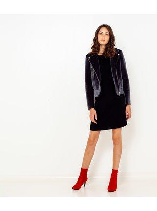 Černé šaty s tříčtvrtečním rukávem CAMAIEU