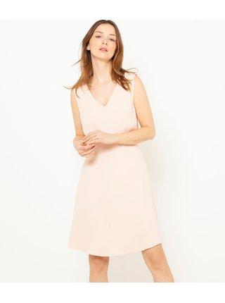 Svetloružové šaty CAMAIEU
