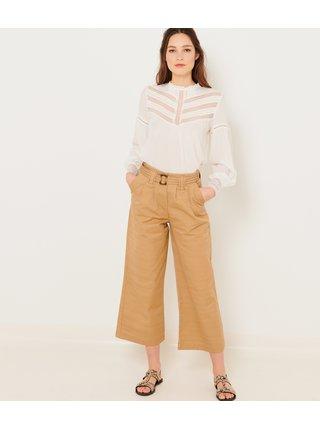 Béžové široké nohavice CAMAIEU