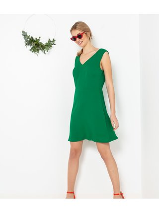 Zelené šaty s krajkou CAMAIEU