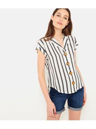 Šedo-biela pruhovaná košeľa CAMAIEU