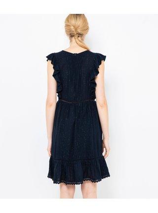 Čierne rebrované šaty CAMAIEU