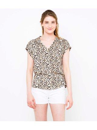 Béžová blúzka s leopardím vzorom CAMAIEU