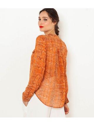 Oranžová halenka s hadím vzorem CAMAIEU
