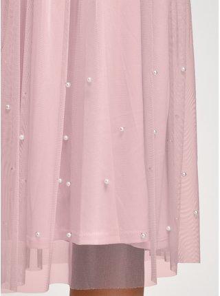 Sukně midi zdobená umělými perličkami OODJI