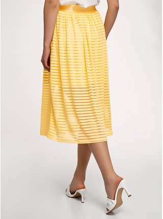 Sukně plisovaná s elastickým pasem OODJI