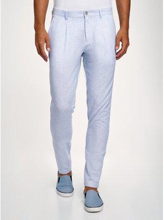 Kalhoty lněné rovné OODJI