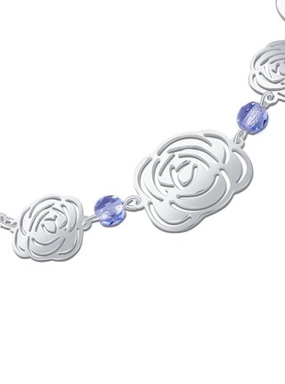 Stříbrný náramek Rose PRAQIA