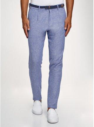 Kalhoty lněné s páskem OODJI