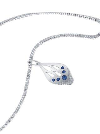 Stříbrný přívěsek na řetízku Blue Butterfly PRAQIA