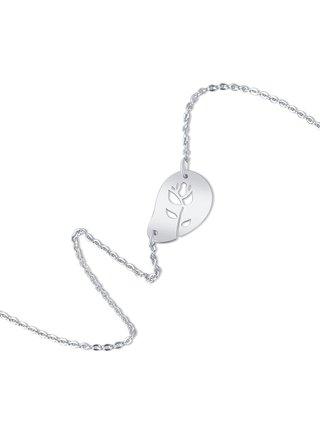 Stříbrný náhrdelník Rosa PRAQIA