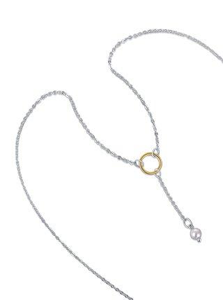 Stříbrný náhrdelník Gold pearl PRAQIA