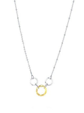 Stříbrný náhrdelník Shining rings PRAQIA