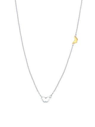 Stříbrný náhrdelník Butterflies love PRAQIA
