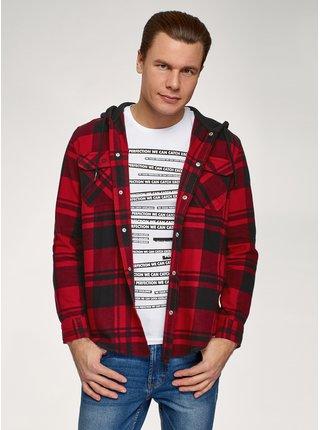 Košile bavlněná s kapucí OODJI