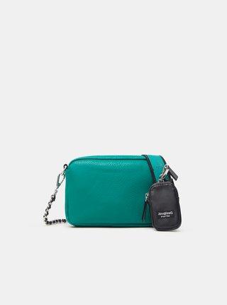Zelená dámská crossbody kabelka Desigual Embossed Half Cambridge Mini
