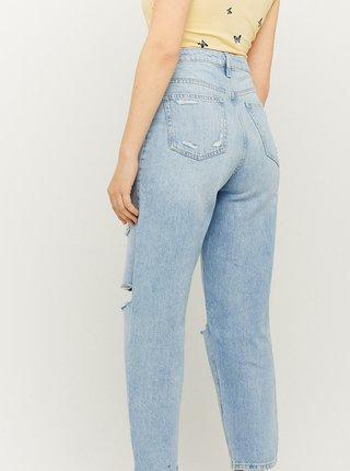 Světle modré zkrácené straight fit džíny s potrhaným efektem TALLY WEiJL
