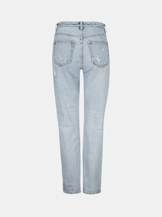 Světle modré straight fit džíny s potrhaným efektem TALLY WEiJL