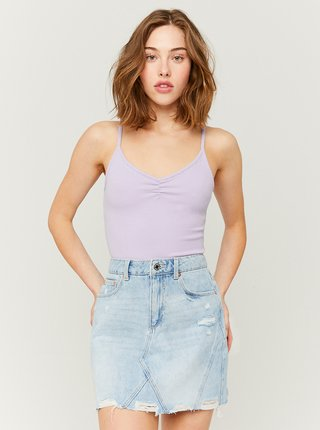 Svetlomodrá rifľová mini sukňa TALLY WEiJL