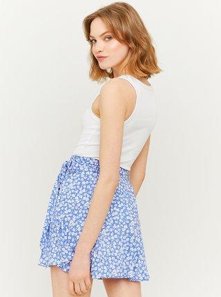 Modrá květovaná sukně se zavazováním TALLY WEiJL