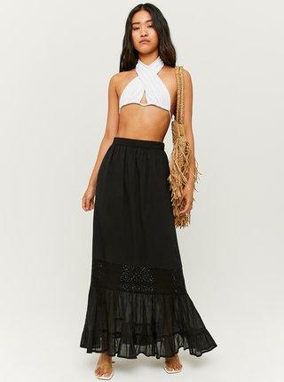 Čierna maxi sukňa s ozdobným detailom TALLY WEiJL