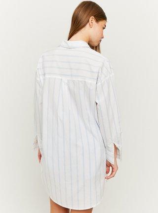 Bílá pruhovaná volná košile TALLY WEiJL