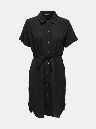 Černé košilové šaty se zavazováním ONLY Nova