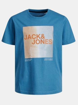 Modré klučičí tričko s potiskem Jack & Jones Raz