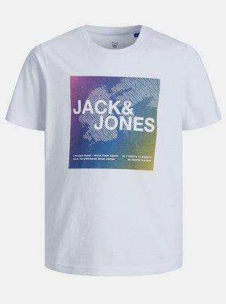 Bílé klučičí tričko s potiskem Jack & Jones Raz