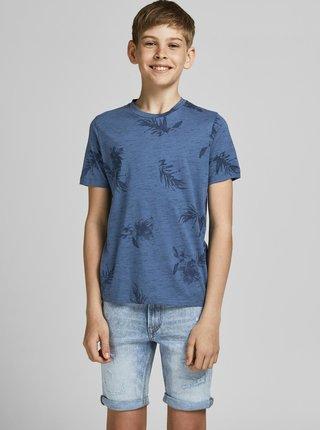 Modré klučičí vzorované tričko Jack & Jones Cali