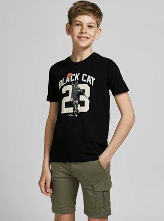 Černé klučičí tričko s potiskem Jack & Jones Legends