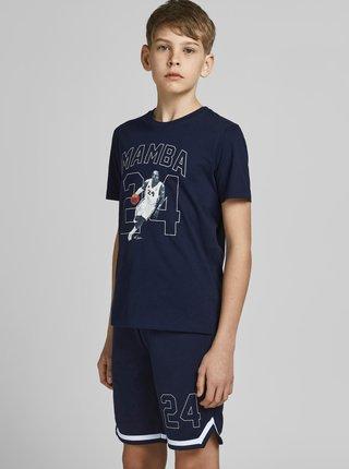 Tmavomodré chlapčenské tričko s potlačou Jack & Jones Legends