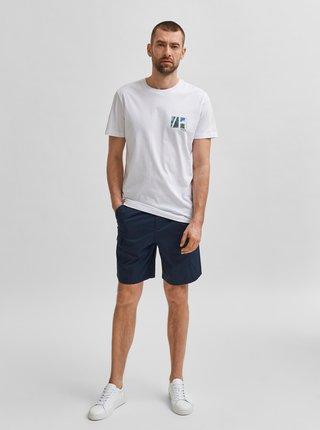 Biele tričko s potlačou Selected Homme Dean