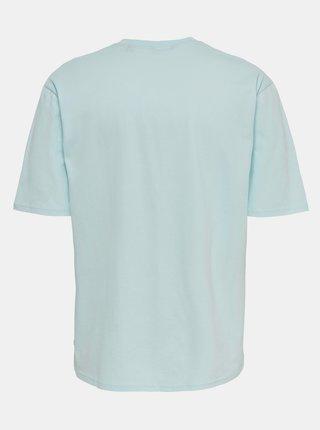 Svetlomodré basic tričko ONLY & SONS Donnie