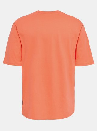 Oranžové basic tričko ONLY & SONS Donnie
