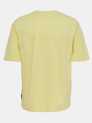 Žlté basic tričko ONLY & SONS Donnie