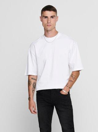 Biele basic tričko ONLY & SONS Donnie