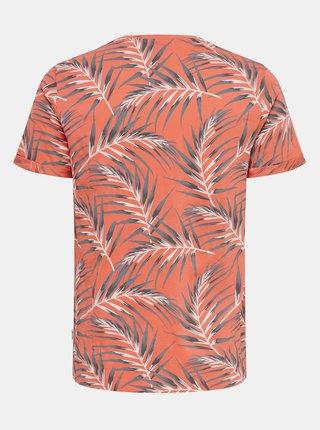 Oranžové vzorované tričko ONLY & SONS Iason