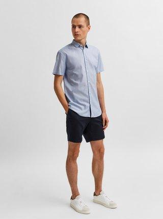 Svetlomodrá košeľa s krátkym rukávom Selected Homme Larry