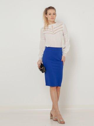 Modrá pouzdrová sukně CAMAIEU