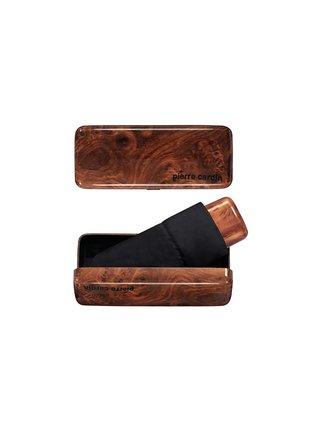 Pierre Cardin MYBRELLA WOOD pánský deštník v krabičce - Černá
