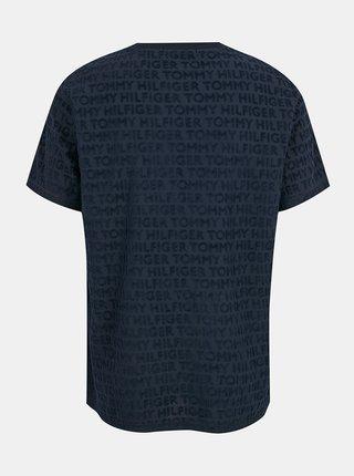 Tommy Hilfiger modré pánske tričko CN SS TEE s potlačou