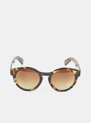 Černé vzorované sluneční brýle Pieces Lulla