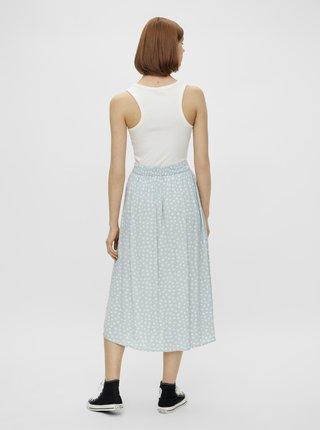 Světle modrá květovaná midi sukně Pieces Selma