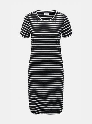 Bielo-čierne pruhované basic šaty Noisy May Simma